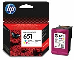 Tinta HP 651 Tri-color, C2P11AE